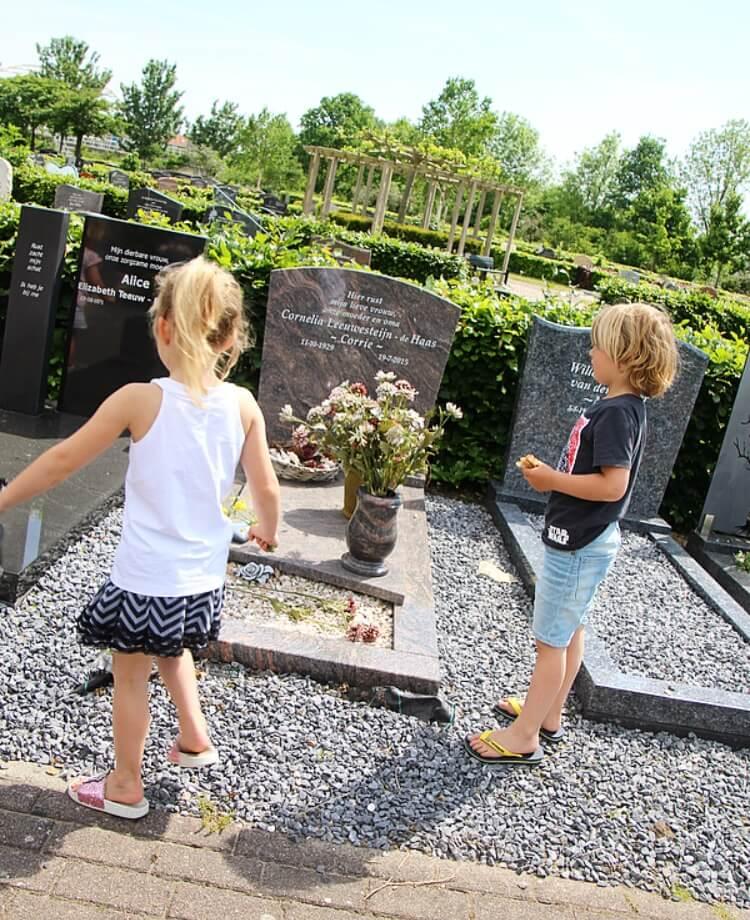 Voor mijn kinderen de eerste ervaring met de dood, het overlijden van mijn opa.